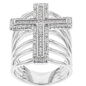 Jewelry - FIRM Cross Ring .935 Sterling Silver